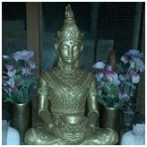 buddha in conservatory