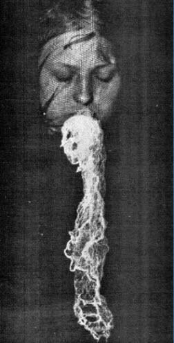 Medium being tested producing ectoplasm